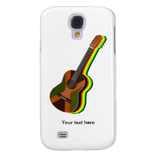 Rastafarian Reggae Guitar Jamaican Flag Galaxy S4 Covers