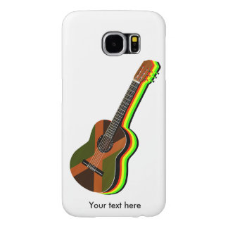 Rastafarian Reggae Guitar Jamaican Flag Samsung Galaxy S6 Cases