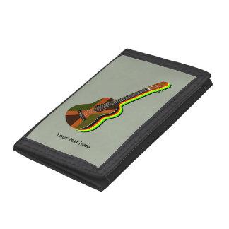 Rastafarian Reggae Guitar Tri-fold Wallets