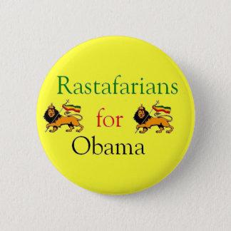 Rastafarians for Obama 6 Cm Round Badge
