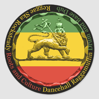 Rastagearshop Reggae Lion of Judah Sticker