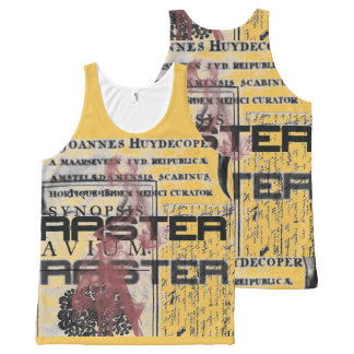 Raster grunge collage All-Over print singlet