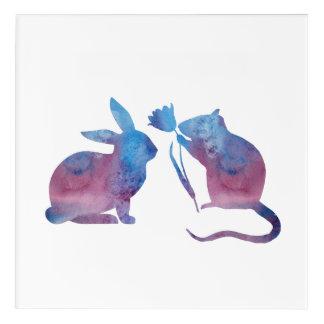 Rat and rabbit acrylic print