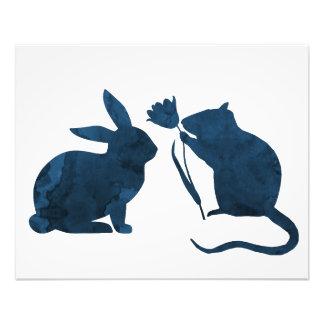 Rat and rabbit photo print