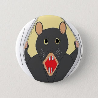 Rat Breaking Out 6 Cm Round Badge