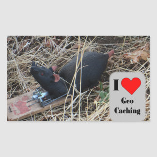 Rat cache hide: Geocaching Rectangular Sticker