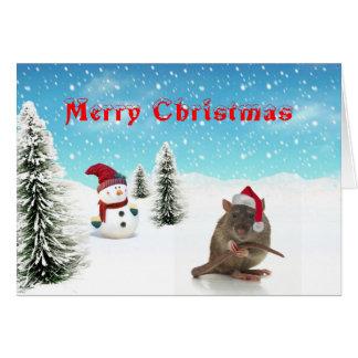 Rat Christmas Card