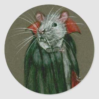 Rat Count Dracula Stickers