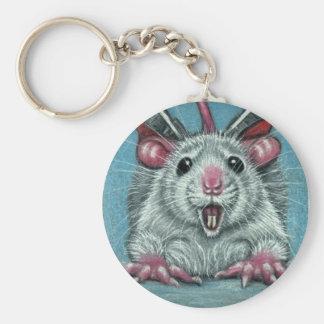 Rat Fallen Skater Keychain