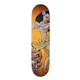 Rat Fink plays for Hula Girl 21.3 Cm Mini Skateboard Deck
