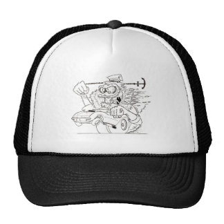 Rat Fink Style Monster & 1967 Corvette Cap