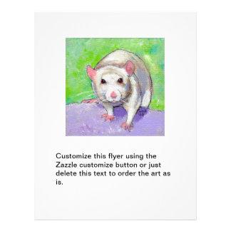 Rat flyers fun unique cute white rat art painting