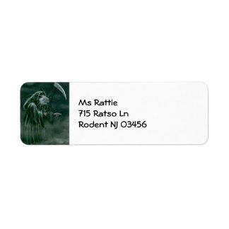 Rat Grim Reaper Halloween Label Return Address Label