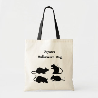Rat Halloween Trick or Treat Tote Personalized Canvas Bag