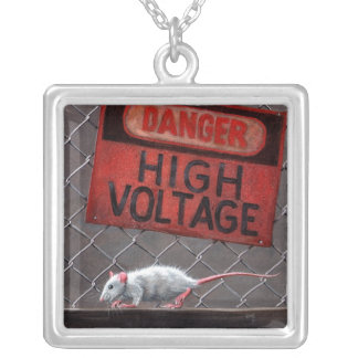 Rat High Voltage Sign Necklace