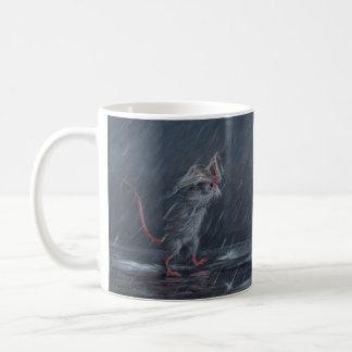 Rat in Rain Mug