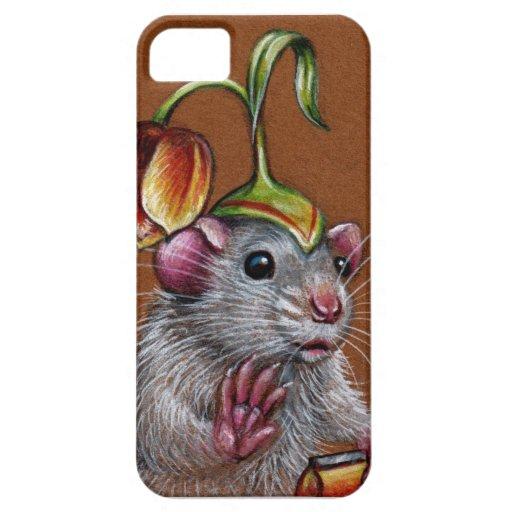 Rat in tulip hat on iPhone case iPhone 5 Cover