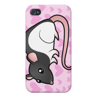 Rat Love (add your own background!) iPhone 4 Covers