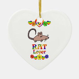 Rat Lover Ceramic Heart Decoration