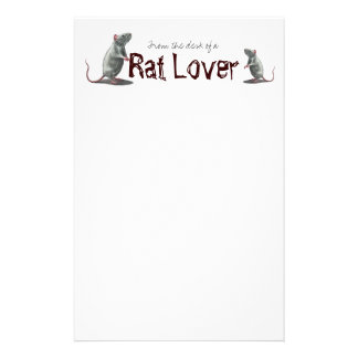 Rat Lover Stationary Custom Stationery