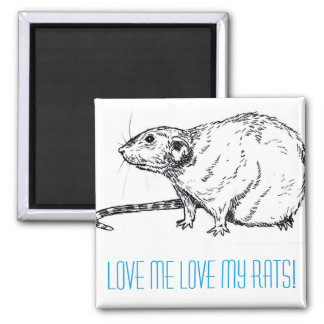 Rat Lovers Magnets