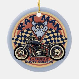 Rat Man Roadful Round Ceramic Decoration