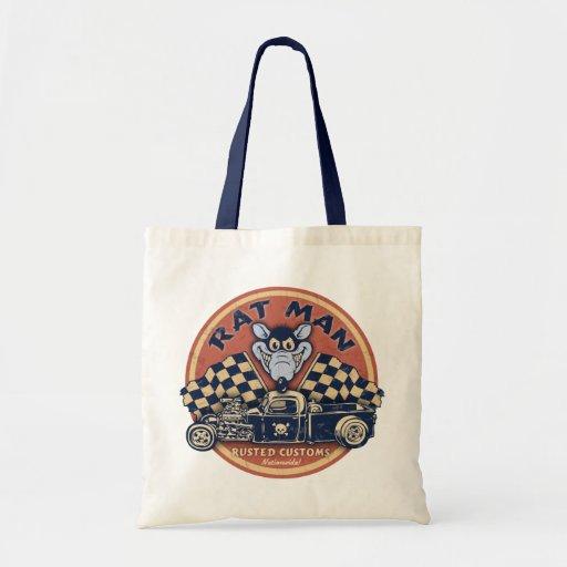 Rat Man Rusted Customs Tote Bag