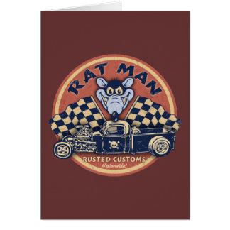 Rat Man Rusted Customs Greeting Card