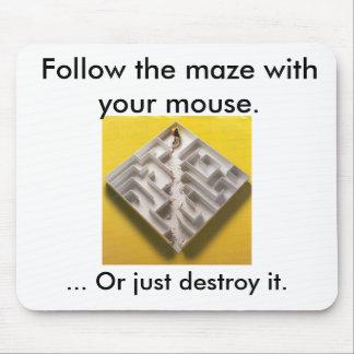 Rat maze musepad mouse pad