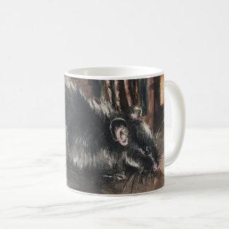 Rat oil painting mug