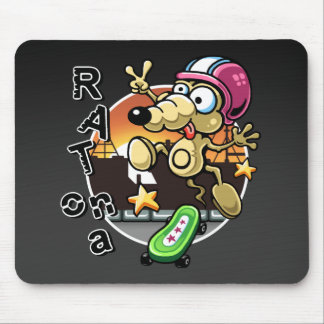 Rat on a Skateboard Mousepad