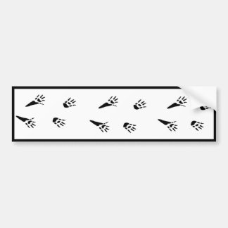 Rat Paw Print - Bumper Sticker