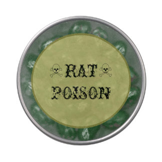 Rat Poison Halloween Candy Bar Party Treats Jelly Belly Tins