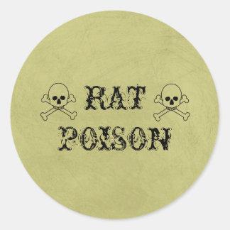 Rat Poison Vintage Halloween Potion Labels