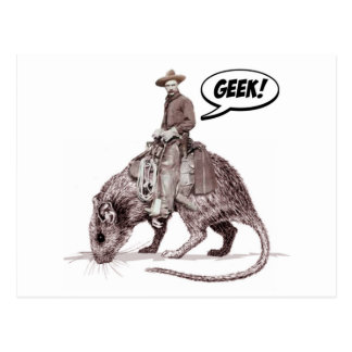 Rat Race Geek Cowboy Postcard