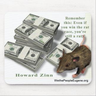 Rat Race, Howard Zinn Mouse Pad