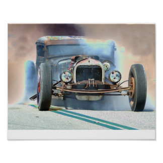 Rat Rod Burnout Poster