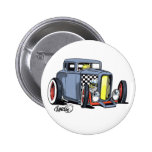 Rat Rod Coupe Pinback Buttons