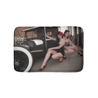Rat Rod Hotties Pin Up Hot Rod Alley Girls Bath Mat