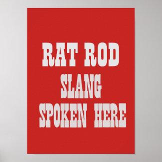 Rat rod slang poster