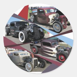 Rat Rod Trucks Classic Round Sticker