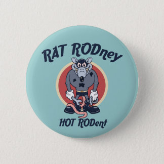 Rat Rodney 6 Cm Round Badge