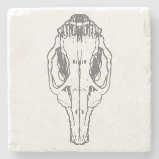 Rat Skull Marble Coaster Stone Beverage Coaster