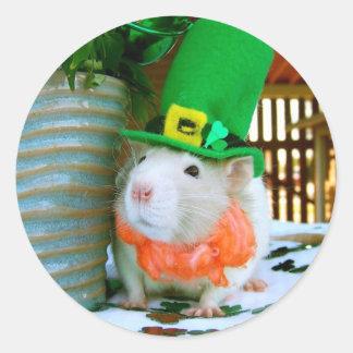 Rat St Paddy s Day Sticker
