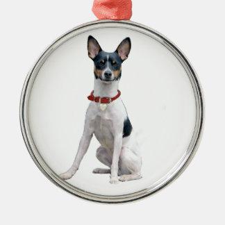 Rat Terrier (A) Metal Ornament