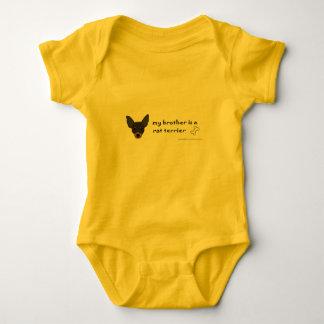rat terrier baby bodysuit