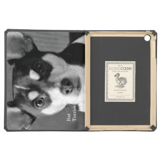 Rat Terrier, Black and White, iPad Air Case
