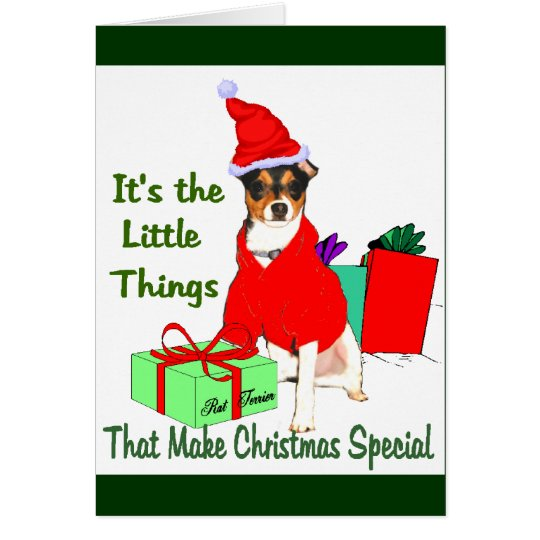 Rat Terrier Christmas Gifts Card