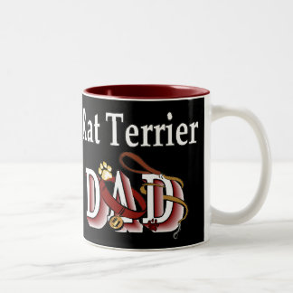 Rat Terrier Dad Gifts Two-Tone Coffee Mug