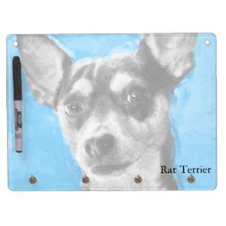 Rat Terrier, Modern Art, Horizontal Dry Erase White Board